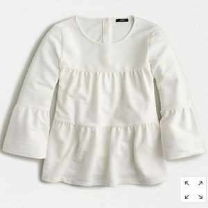 NWT J. Crew button-back tiered bell-sleeve top